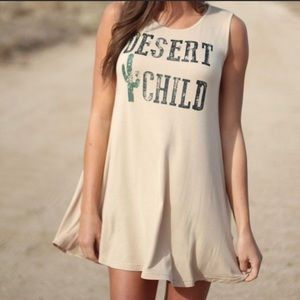 Dessert Child boho style sleeveless t-shirt dress
